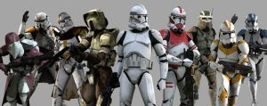 "Soldiers of the ""Battles of the Clone Wars"""
