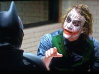 Joker messing with Batman