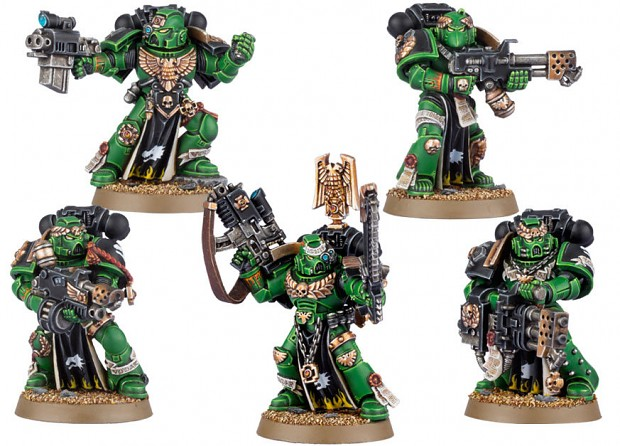 New Iron Hands and Salamanders Sterngaurd models