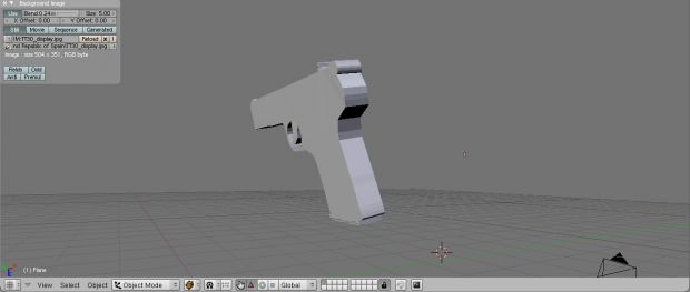 Bad 1/3 done pistol ^^ just to have some media
