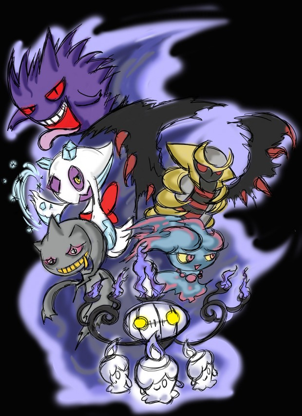 Pin Ghost Type Pokemon...
