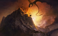 Silmarillion battle art - dragon fire