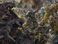 Battle of the Five Armies - Combat art
