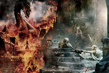 The Hobbit  3 poster Smaug gandalf