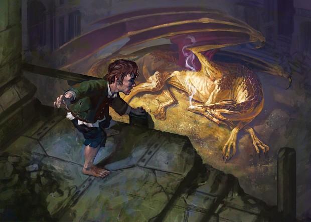 Bilbo and smaug art image The Fellowship Mod DB