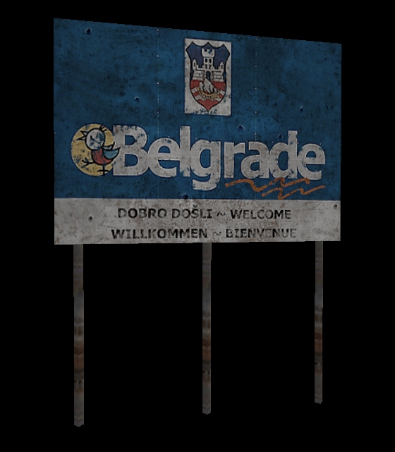 Belgrade Welcome Sign WIP