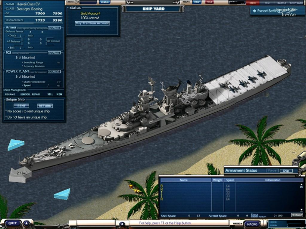 uss hawaii class battle cruiser carrier image - timemind productions