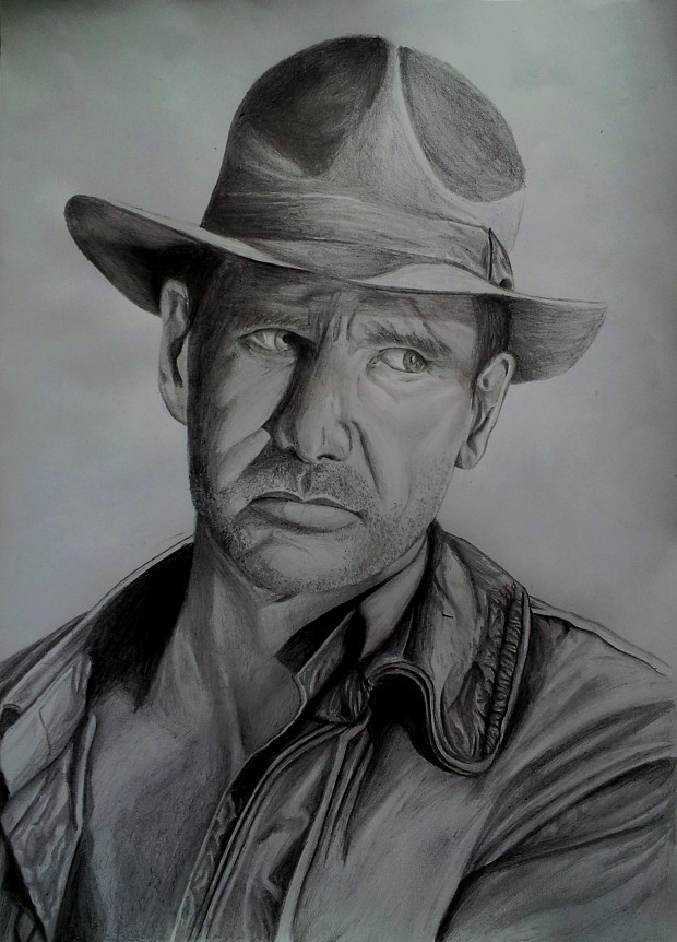 Harrison Ford Indiana Jones drawing by request