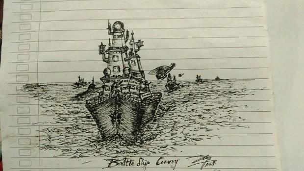Battleship convoy..use pen