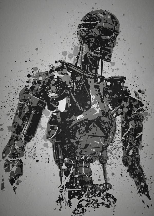 splatter effect terminator