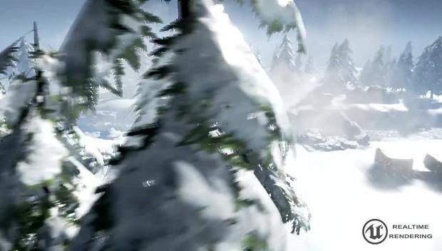 Blizzard Passage battlefield demo  Unreal Engine 4