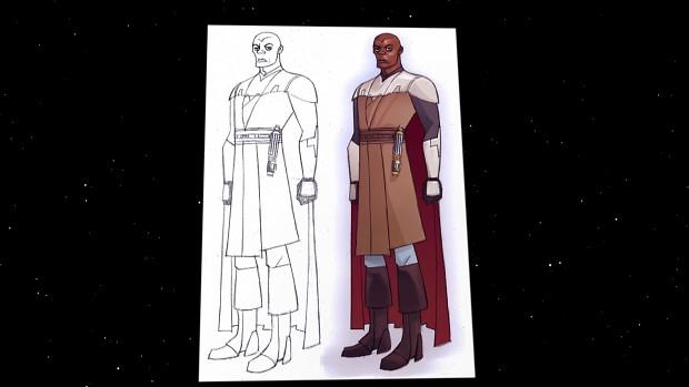 Mace Windu - sketch - The Clone Wars