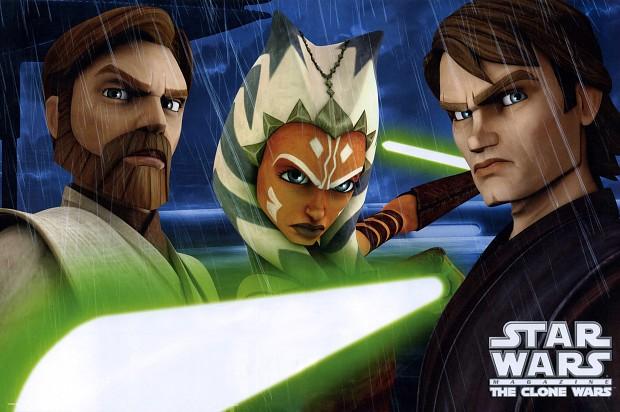 The Clone Wars Obi Wan Ahsoka Anakin Wallpaper Image Sw M Mod Db