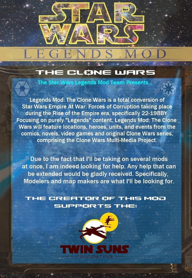 Legends Mod Page Clone Wars