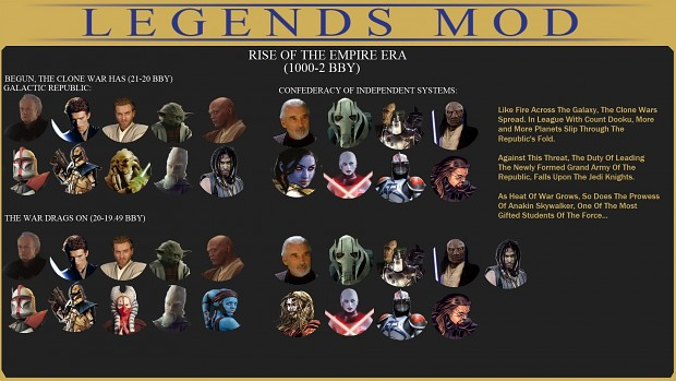 Legends Mod Hero Icons: Rise of the Empire Era