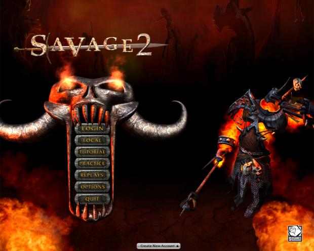 New main menu screen