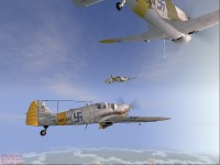 Finnish BF109G6 and Morko Morane M.S406