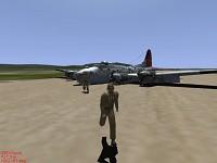 B-17G Crash landing