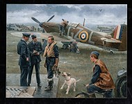 Battle of Britain painting.
