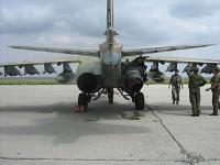 Su-25 damaged by MANPADS.