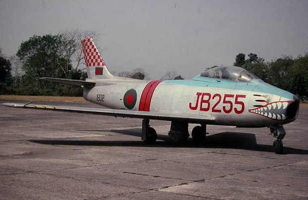 Ex-PAF F-86 with Bangladeshi markings.
