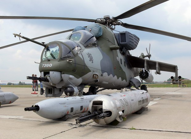 Mi-24 with it's DAKKA pods.