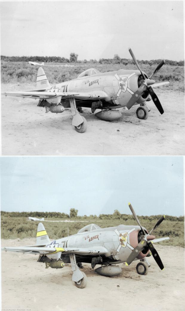 P-47 at Alto Airbase Corsica 1944.