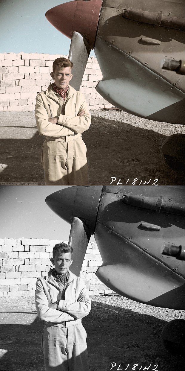 Canadian personal and Spitfire MKVb in Italy 1943