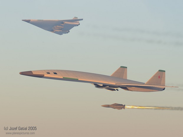 Sukhoi T-4MS and PAK DA concept