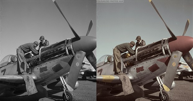 Tuskegee airmen Marcellus G. Smith and Roscoe C. Brown...