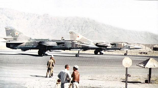 Soviet MiG-23MLDs in Afghanistan.