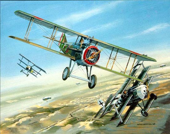 Italian SPADs during WW1