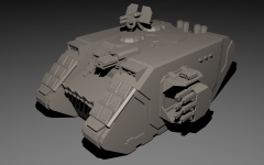 3D Warhammer 40K vehicle renders