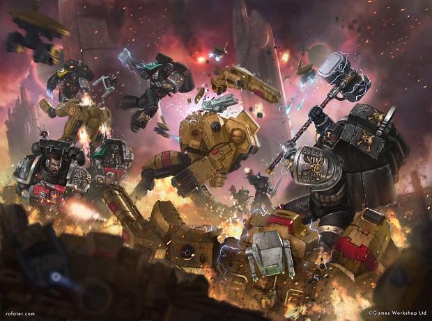 Deathwatch kill-team obliterates a battlesuit cadre