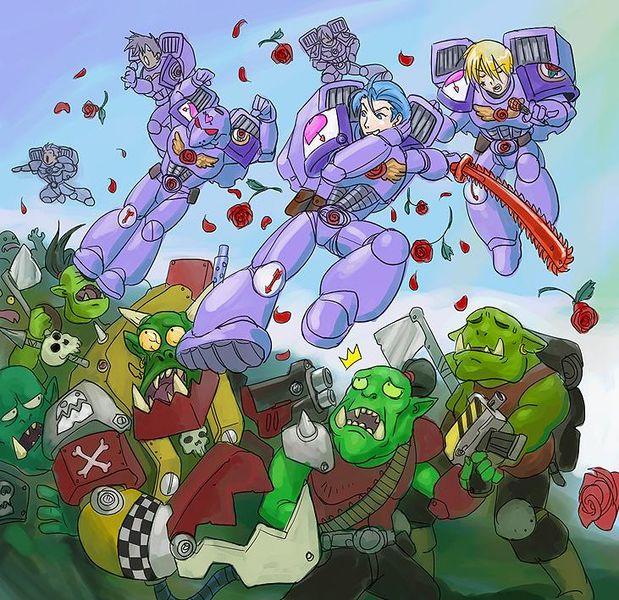 Pretty Sky Assault  Marines vs Orcs