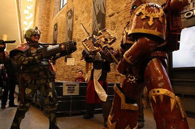 Cadian Shock Troop Vs Khorne Marine Image Warhammer 40k