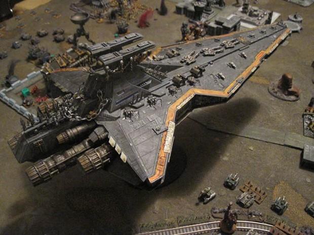 Fan made 40K Venator-calss Star Destroyer.