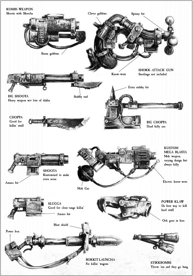 Ork Weapons