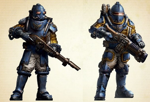 Solar Auxilia troop in Solar Pattern Void Armour
