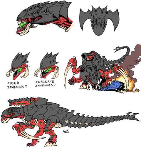 "The Tyranid Dominatrix's ""Little friend"""