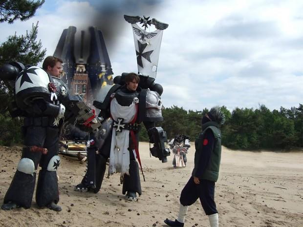 Black Templars detaining a Psyker/Assassin