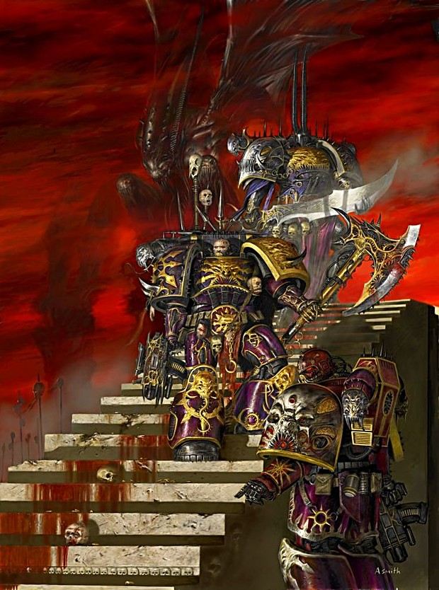 Chaos Marines Awaiting a Victim