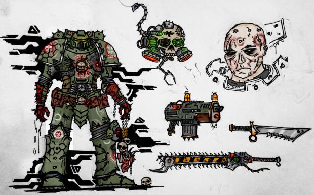 Doom Slayer 40k  by dahmernation