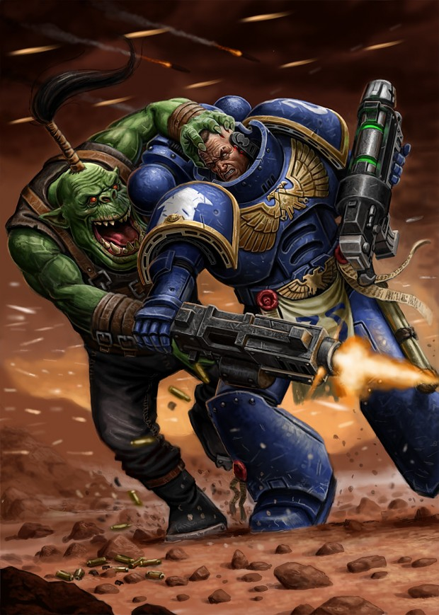 Ultramarine vs Shoota boy with looted bolter