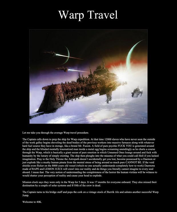 How Warp travel works.