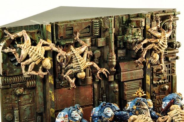 Terminators vs Genestealers Diorama