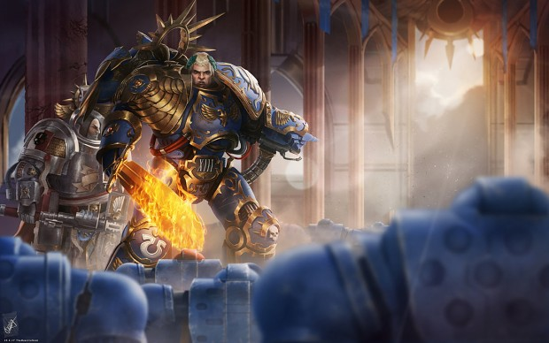 Roboute Guilliman and Grand Master Voldus