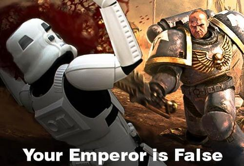 YOUR EMPEROR IS FALSE