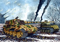 King Tiger winter battle in Hungary