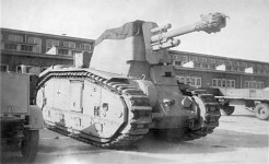 B1-Bis with german 10,5 Howitzer